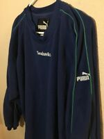 Vtg Puma NFL Seattle Seahawks Mens Large Fleece Shirt Blue