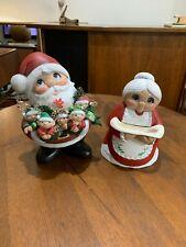 Mr. & Mrs. Santa Vintage Ceramic