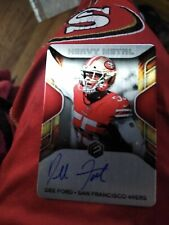 Dee Ford 2020 Elements On Card Auto #8/50 49ers.