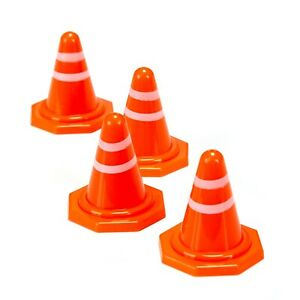 Mini Traffic Cones, Roadblock Toy, Obstacle Course, R/C Racing Cones (10 pack)