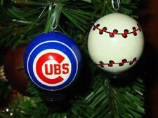 (1) CHICAGO CUBS World Series Champions  Xmas Baseball Ornament made in Russia