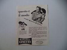 advertising Pubblicità 1957 BRILLANTINA LINETTI