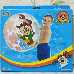 "Looney Tunes inflatable beach ball 36"" by Intex #58062 (Taz)"
