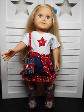"""American Girl - 18"""" Western Cowgirl Clothes Skirt, Shirt, Purse"""