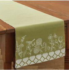 36 L Park Designs Garden Sketchbook Cotton Table Runner