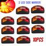 10X Amber/Red Clearance Lights Side Marker LED Car Truck Trailer Caravan 12V-24V