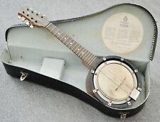 "Banjo-Mandoline Banjolele ""Dulcetta"", John Grey & Sons London,1930 1950, Koffer"