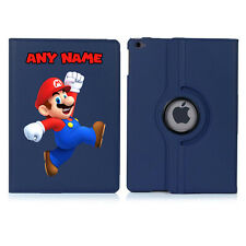 SUPER MARIO 1 Name Personalised iPad 360 Rotating Case Cover Birthday Present