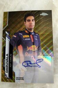 Jehan Daruvala Certified Autograph Refractor 36/50 2020 Topps Chrome Formula 1