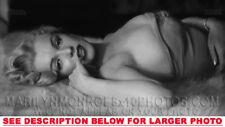 MARILYN MONROE TOPLESS ON a BEAR RUG 1xRARE8x10 PHOTO