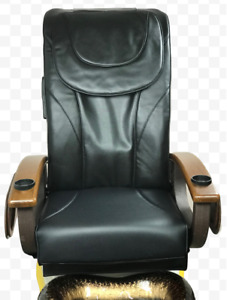 Pedicure Back Massage Seat Cover with Front Chin Black…