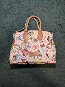 Mickey Disney Dooney and Bourke Satchel Bag Purse Disneyland