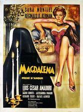 Affiche 120x160cm MAGDALENA PECHE D'AMOUR (1961) Sara Montiel, Rafael Alonso BE