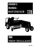 New Holland 178 Baler Operators Manual