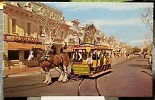 1960's DISNEYLAND Horse Drawn Street Car Main Street 101 Emporium Store Postcard