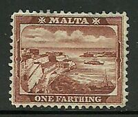 Album Treasures Malta Scott # 28  1f Valletta Harbor Mint Lightly Hinged
