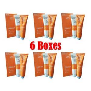 6x WELLA Straight System Hair WELLASTRATE Permanent Straightening Cream