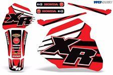 Decal Graphics for Honda XR80-XR100 Dirtbike MX Wrap Motocross Deco 1985-2000 XR
