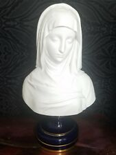 "Sevres Porcelain Bust Virgin Mary / Madonna, 19th Century, Large  15.5"" tall"