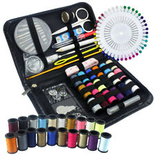 134Pc Portable Travel Home Sewing Kit Case Needle Thread Tape Scissor Button Set