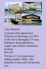 "Window Film 99% UV  Protection Fade Control Clear Ceramic 60 "" x 10' Intersolar®"