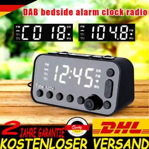 Funk DAB und Radiowecker Tischuhr FM UKW Uhrenradio Snooze Dual Alarm USB LED