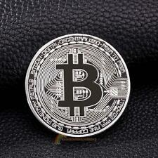 Gold Plated Physical Bitcoins Casascius Bit Coin BTC With Case Art Gift Silver