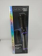 Conair BC191N 2 inch and 1 ½ inch Hot Air Spin Brush Infiniti Pro - Black