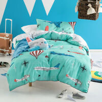 Hiccups Kids Fly with Me Childrens Quilt Doona Duvet Cover Set | Planes & Drones