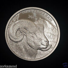 2015 Year of the Ram 1 Troy oz .999 Fine Silver Bullion Round