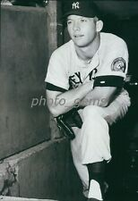 Young Mickey Mantle Looks on from the Dugout High Quality 11x14 Archival Photo