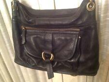 Sophia Visconti Black Leather Crossbody Purse