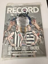 2011 AFL Grand Final Football Record- Geelong Vs Collingwood