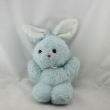 Ancienne peluche lapin bleu CHAMTI - Lapin Classique