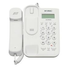 White Telephone Desktop Table Corded Phone Caller Wall Mount Home Hotel