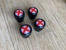 4 Bouchons Metal De Valve Jante Uj Union Jack Mini Cooper R53 R55 R56 F56 S Jcw