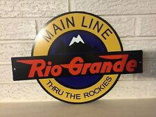 Rio Grande Railroad Herald Logo Heavy Steel Sign New Laser Cut Out Sign
