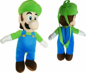 """Mario Brothers Mario Green Hat Large 18"""" Backpack Plush"""