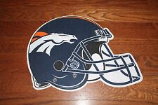 DENVER BRONCOS football helmet shaped diecast NFL felt PENNANT New NWT