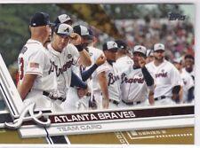 Atlanta Braves Team Card 2017 Topps, (Gold), 1369/2017 !!