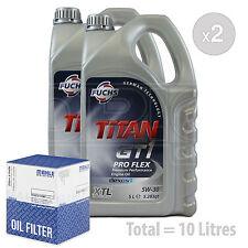 Engine Oil and Filter Service Kit 10 LITRES Fuchs GT1 PROFLEX XTL 5w-30 10L