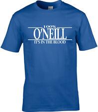 O'Neill Apellido Camiseta Hombre 100% o'Neill Regalo Nombre Familia