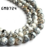 White Agate Fire Agate Onyx Round Beads for DIY Beads Bracelet 6mm 8mm 10mm