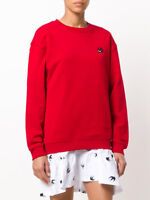 M C Q /% 100 Authentic Women RED  Swallow Women Sweatshirt
