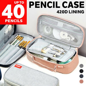 Pencil Case Zipper Pen Bag School Office Stationery Organizer Cosmetic