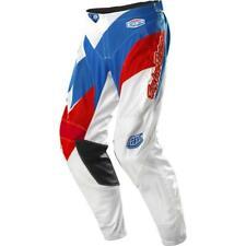 Troy Lee Designs GP Air Astro MX Motocross Pants White Blue Size 32
