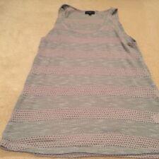 TopShop Grey & Pink Knitted Vest - Size 10