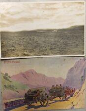 2 x WW2  KINGDOM YUGOSLAVIA postcard  ROYAL NAVY UBOAT U BOAT  + ARTILLERY MARSH