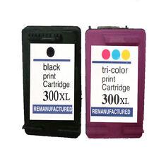 2 NO-OEM repuesto para HP 300xl 300 NEGRO Cartuchos de Tinta DE COLOR