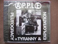 A.P.P.L.E.  Plutocracy=Tyranny & Exploitation CD APPLE crust punk FREE SHIPPING!